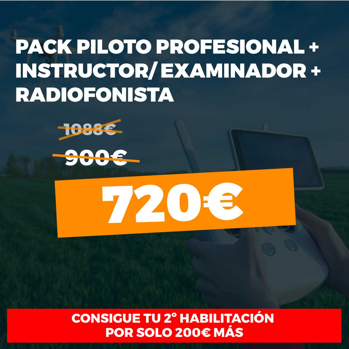 Pack piloto radiofonista instructor